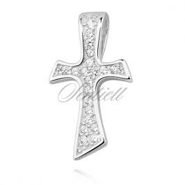 Silver (925) pendant cross with zirconia - Z1268