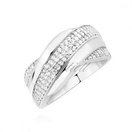 Silver (925) ring with white zirconia - Z1529A