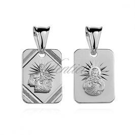 Silver (925) pendant - Jesus Christ / Scapular Mary - GMD11