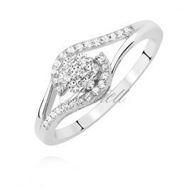 Silver (925) ring with white zirconia - Z1408A