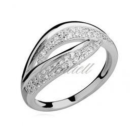Silver (925) ring with white zirconia - Z0933